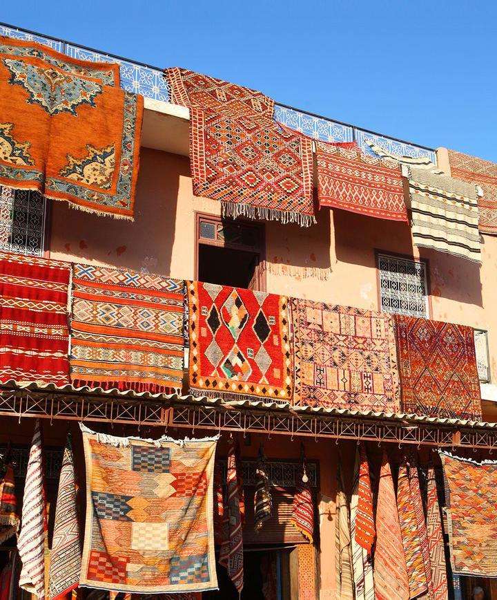 쇼핑_모로코의 명물, 화려한 전통 카펫 골목 구경하기  이미지