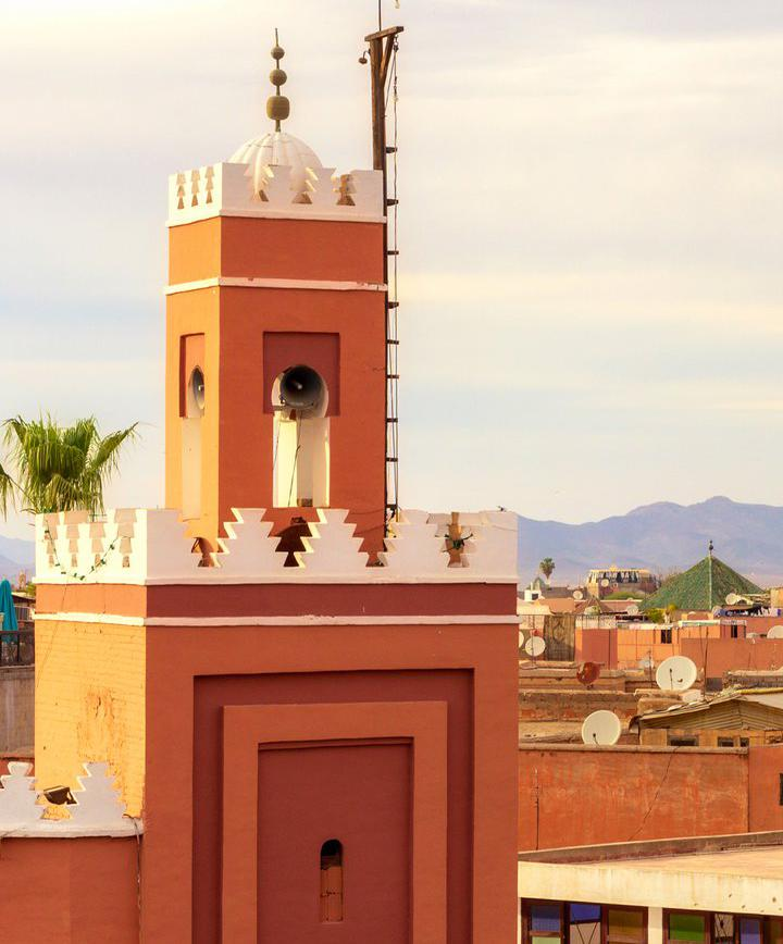 핑크빛 도시 모로코 마라케시의 아름다운 도시 건축물 감상하기