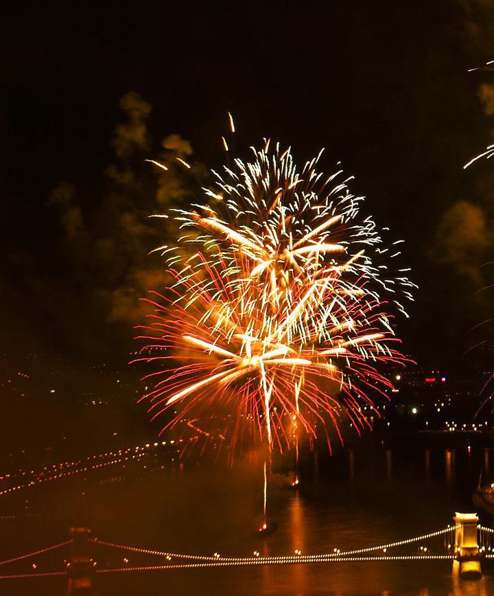 유럽 부다페스트 스테판 불꽃 축제 보기