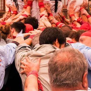 바르셀로나의 '라 메르세' 축제에서 아찔한 인간 탑 관람하기