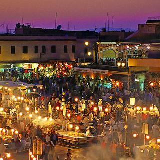 모로코의 살아있는 밤, '마라케시 야시장'에서 야식 먹기