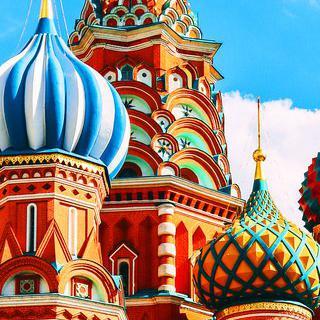 러시아 최대 도시 '모스크바'에서 화려한 색감의 건축물 감상하기