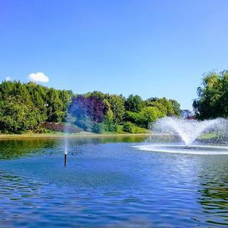 넓은 광장과 고풍스러운 분수, 바르샤바 공원 나들이
