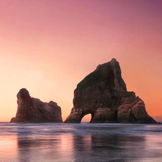 뉴질랜드 남섬의 보물, 'Wharariki Beach'에서 사진 찍기