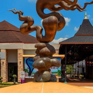 태국 공예 박물관에서 유리로 만든 우주 보기