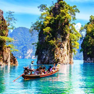 태국의 무릉도원, '카오속 국립 공원'에서 카누 타기