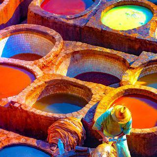 중세 가죽 염색 공장, 'Chouara Tannery' 탐방하기