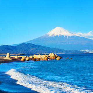 해변에서 감상하는 후지산, '미호노 마츠바라'에서 힐링하기